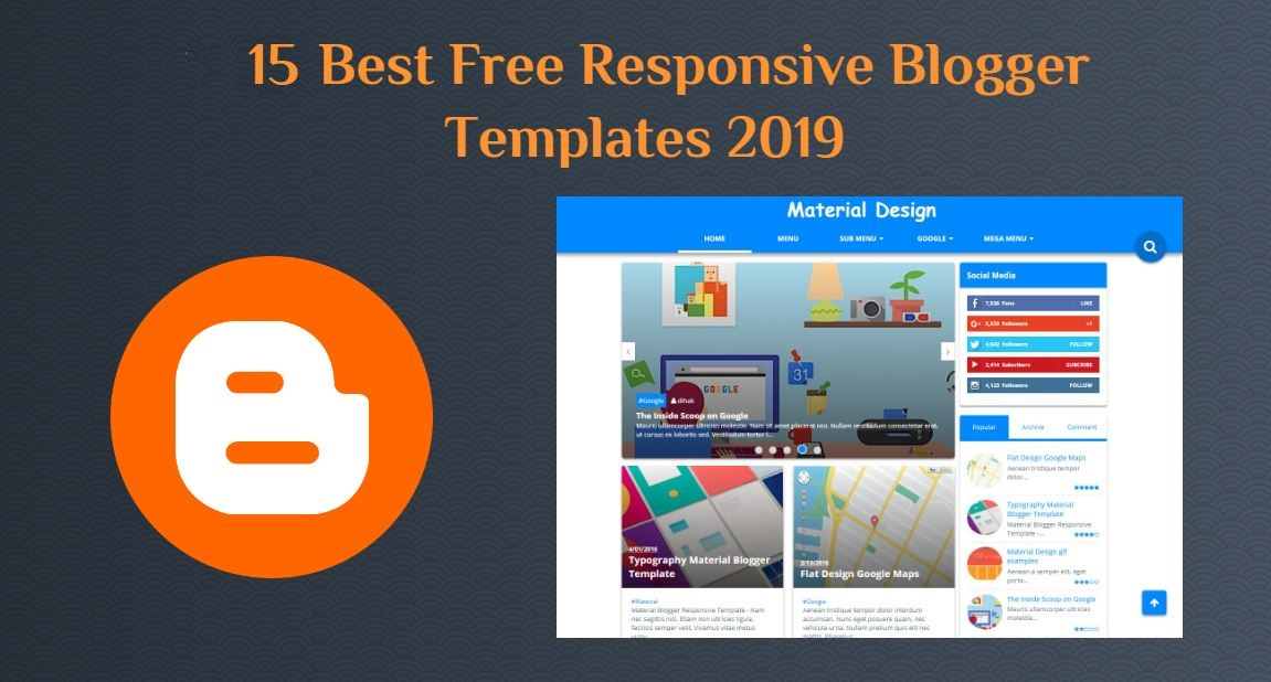15 Best Free Responsive Blogger Templates 2019