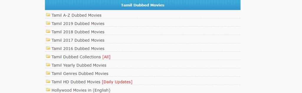 Moviesda Tamil dubbed movies